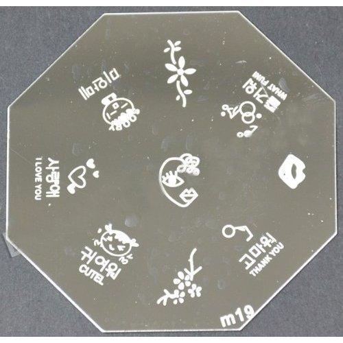 Nail Art emboutissage des tôles - M01 CODE : M19-plaque
