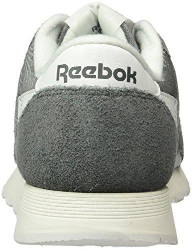Reebok Classic Nylon R13, Sneakers basses homme Gris (Alloy/White)