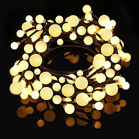 LED String Lights, LOFTer 72 LED 25ft(7.5m) Globe Ball Waterproof Outdoor Indoor Decorative Lights for Bedroom, Patio, Garden, Gate, Yard, Parties, Wedding, Xmas, Decoration (Warm