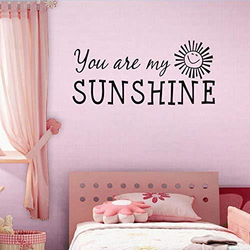 Hxfhxf You Are My Sunshine Wram Adesivi murali per gli amanti delle  camerette Decorazioni murali camera da letto Carta da parati rimovibile ...