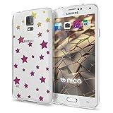 NALIA Handyhülle für Samsung Galaxy S5 S5 Neo, Designs:Stars