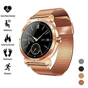 Smart Watch Fitness Tracker, Activity Tracker Dynamic UI Frecuencia cardíaca Presión arterial ECG + PPG ECG IP67… 1