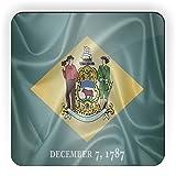 Rikki Knight Delaware State Flag Design Square Fridge Magnet