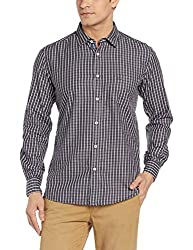 Parx Mens Casual Shirt (8907576137456_XMSS06036-K6_40_Black)
