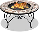 Centurion Supports Fireology Kennocha Jardin et chauffage Patio Brasero en, table basse, barbecue et seau à glace - Finition marbre