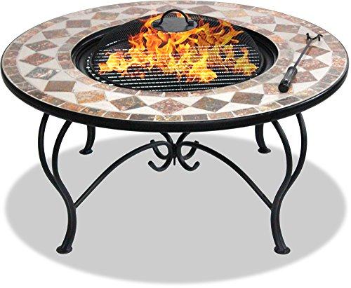 Centurion Supports Fireology Kennocha Jardin et chauffage Patio Brasero en, table basse, barbecue et seau à glace - Finition marbre