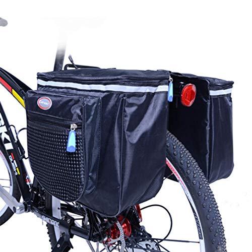 FDSEQ Fahrradreittasche Ausstattungspaket Gepäckträger Tasche Mountainbike, Charter Mountainbike Tasche Kameltasche nach dem Paket blau