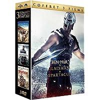 Coffret péplum 3 films : ben-hur ; gladiator ; spartacus