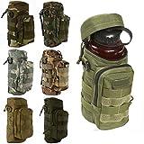 CAMTOA Military Tactical Wasserflasche Pot förmigen Wasser Bottle Pouch Tasche Zipper Fall Tasche Camo Ausrüstung für Radfahren, Wandern, Camping Tarnung