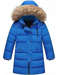 LSERVER-Unisex Abrigo chaqueta Los Niños y Las Niñas en Invierno Abrigo De Invierno Chaqueta De Pluma