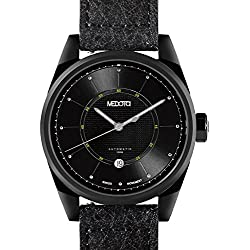 MEDOTA Grancey Men's Automatic Water Resistant Analog Quartz Watch - No. 2904 (Black/Green)