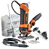 VonHaus Rotary Multi Tool 550W with 287-Piece Accessory Kit for DIY Jobs