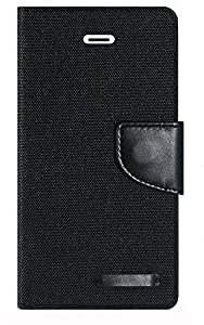 Aart Fancy Wallet Dairy Jeans Flip Case Cover for Asuszen-5 (Black) By Aart Store