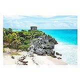 Bilderwelten Fotomural Premium - Caribbean coast Tulum ruins - Mural apaisado papel pintado fotomurales murales pared papel para pared foto 3D mural pared barato decorativo, Tamaño: 225cm x 336cm
