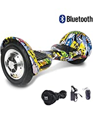 """Cool&Fun Hoverboard Patinete Eléctrico Scooter Monopatín Eléctrico Auto-equilibrio Patín de 10"""" From SHOP GYROGEEK 350X2W (Hiphop)"""