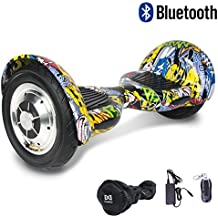 HoverBoard/Skateboard/Gyropode Éléctrique Auto-équilibrage Bluetooth Scooter Trottinette Électrique 10 Pouces,Pneu Gonflable Cool&Fun