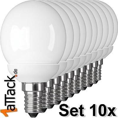 1aTTack.de 83700 Energiesparlampe E14 Sockel 7 W Kugelform mit E14 Sockel 10-teilig von Mundo del Arte GmbH auf Lampenhans.de