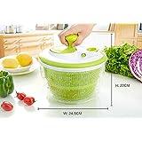 Essoreuse à salade avec poignée rétractable   Transparent et vert by RIVENBERT