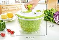 Centrifugador Escurridor para ensaladas y verduras con manija retractable | Transparente y verde by TrendingTemple