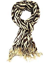 Fabelhafte Groß Weich Pashmina Schal mit Zebramuster