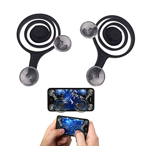 Cable Hunter™ Touch Screen Mobile Game Joystick Game Controller (2 Pcs) (Black)  available at amazon for Rs.265