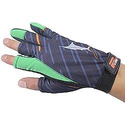 3dedos camuflaje pesca caza selva camuflaje antideslizante pesca guantes, resistente al agua, transpirable, quickly-dry, protección UV y resistente al desgaste, verde