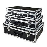 Alukoffer 3er Set (XL-L-M) Werkzeugkoffer Werkzeugkiste Pilotenkoffer Kiste Box