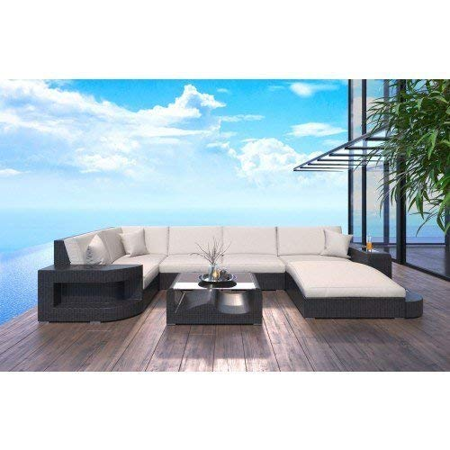 Sofa Dreams Designer Rattansofa Wohnlandschaft Wave in der U Form