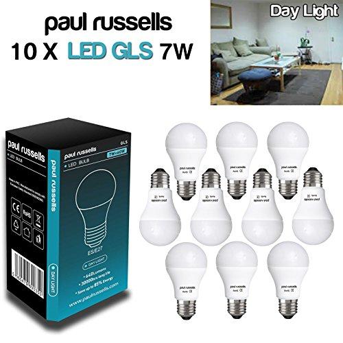 10-pack-7w-gls-led-light-bulb-b22-e27-es-edison-screw-cap-paul-russells-very-bright-7w-60w-day-light