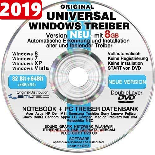 Universal Treiber Sammlung CD/DVD mit 8GB ! für WINDOWS 10 Windows 8 und 7,Vista XP (alle PC & Notebook Modelle) Universaltreiber Treiber Datenbank (Windows Treiber Für 7)