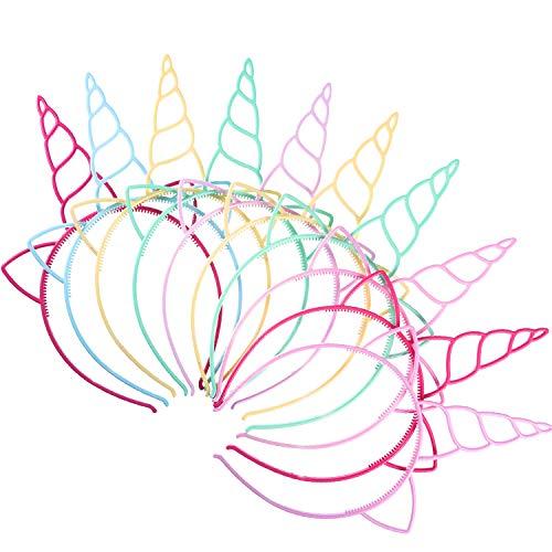 f Einhorn Stirnbänder Einhorn Horn Stirnband Kostüm Cosplay Dekoration Lieferungen für Party (Helle Farben) ()