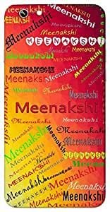 Meenakshi (Fish like eyes) Name & Sign Printed All over customize & Personalized!! Protective back cover for your Smart Phone : Samsung Galaxy E5