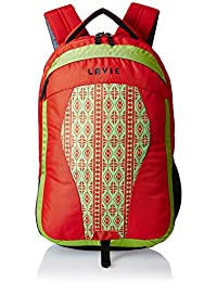 Lavie Orange Laptop Backpack (BHEI551024B3)