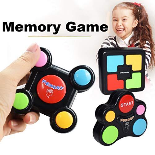 3 Stück Memory Spiele für Kinder und Erwachsene, Kinder Memory Match mit Lights Sounds Quizspiel Spielzeug kognitive Farbe Gedächtnis entwickeln Frühe Erziehung Geburtstag Geschenk für Kleinkinder Kid