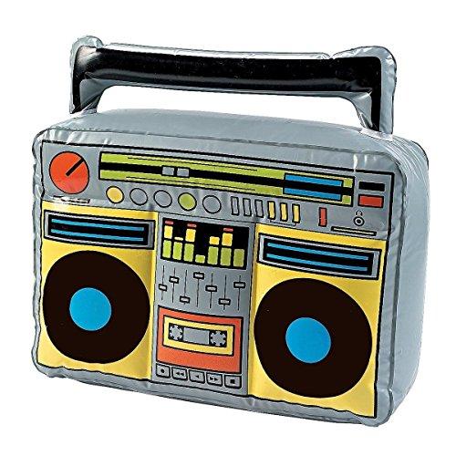 �er aufblasbarer Ghettoblaster Boom-Box Stereo Radio aufblasbar Hip Hop Verkleidung Radio Scherzartikel ()