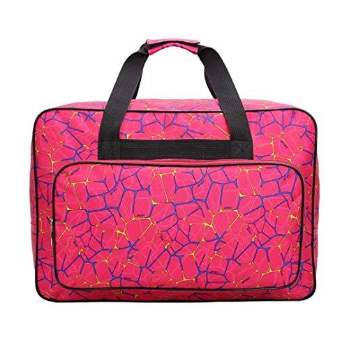 Unisex Große Kapazität Reisetasche Für Frauen Multifunktionale Nähmaschine Tasche Tragbare Aufbewahrungsbeutel Handtasche Rose Red (Koffer Taschen Nähmaschine Und)
