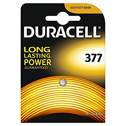 Duracell Spéciale Piles Silver Oxide type 377, Lot de