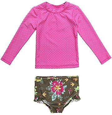 ab3257c2f50ad CharmLeaks Baby Boy Short Sleeve Zip Rash Guard Striped UV Protection One  Piece Swimwear Swimsuit UPF