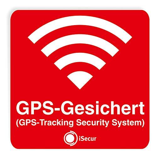 3er Aufkleber-Set GPS-Gesichert - rot I 6 x 6 cm I Warnung GPS-Tracking Security System, Alarm-gesichert I außen-klebend wetterfest I hin_069 (Security System, Alarm Für Auto)