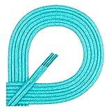 Di Ficchiano DF-SW-03-turquoise-180 gewachste runde Schnürsenkel, Schuband, Laces, Durchmesser 2-4 mm für Businessschuhe, Anzugschuhe und Lederschuhe