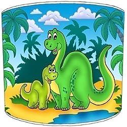 Premier de arroz techo lámpara de dinosaurios para niños verde Shades, metal papel, Verde, 30,5 cm