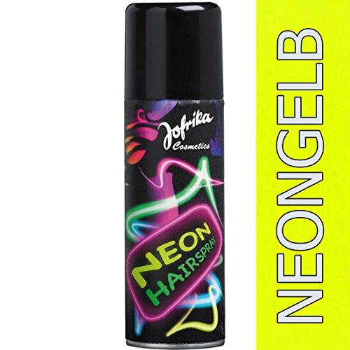 80er Jahre Haarspray Neongelb Neonfarbenes Hairspray Disco Farbspray Motto Party Haar Farbe Mottoparty Neonspray Silvester Karneval Accessoires ()
