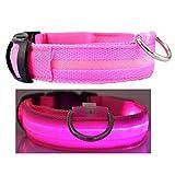 Q4Pets Blinklicht Hund Oder Katze Kragen. Wasserdichte Reflektierende LED-Sicherheits-Haustier-Krägen. (Kleines, Rosa)