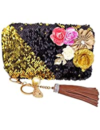 Prime Purses For Women, Stylish Clutch For Girls For Party And Casual Use, 15 Gram, Black, Pack Of 1