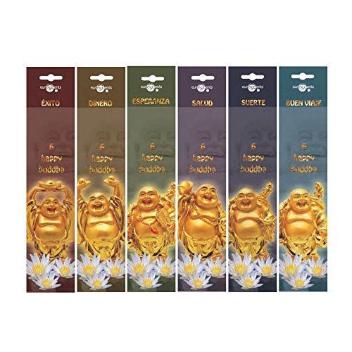 Emim - Pack 6 paquetes incienso aromático Happy Buddha
