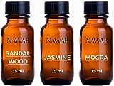 #2: NAWAB essential aroma Diffuser oil(Jasmine,Sandalwood,Mogra-15ml each)