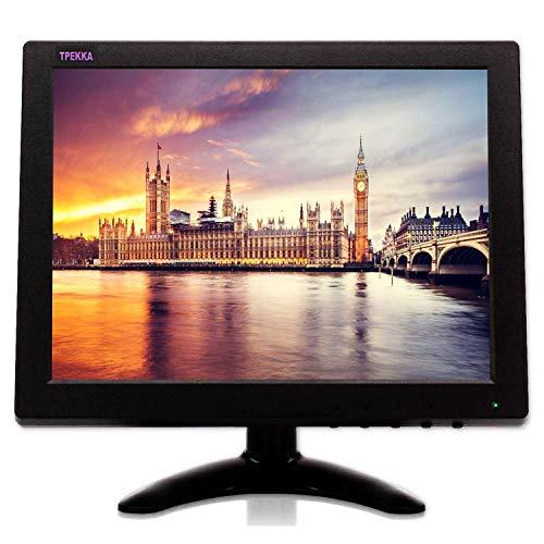 """TPEKKA 10"""" Pollici CCTV Monitor HD 1024x768 Mini Monitor TFT LCD Portatile con BNC/ HDMI/ VGA/ AV Ingresso per PC Computer Schermo FPV DVR CCTV Cam Home Office Sorveglianza Display Raspberry Pi"""
