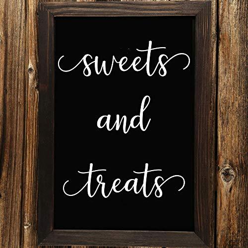 yiyiyaya Süßigkeiten und Leckereien Wandtattoo Hochzeitsdekor Hochzeit Zeichen Vinyl Aufkleber für Bord Spiegel42 * 50 cm