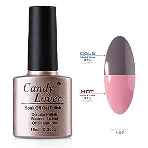Candy Lover 10ml Vernis à Ongles Caméléon Semi Permanent à Couleurs Changeantes de Température Soleil #127