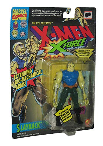 Slayback Action Figure - 1994 - X-Men X-Force - Evil Mutants - w/ Snarl & Grab Action - Toy Biz - Marvel - Trading Card - Limited Edition - Collectible by X-men; X-force (Xmen Trading Card Game)